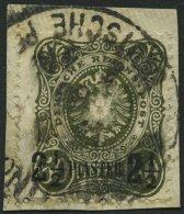 DP TÜRKEI 5b BrfStk, 1887, 21/2 PIA. Auf 50 Pf. Oliv Auf Briefstück, Feinst, Mi. 100.-