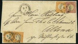 DP TÜRKEI V 18,19 BRIEF, 3.7.1873, 1/2 Gr. (3x) Und 1 Gr. Großer Brustschild Auf Brief über VARNA-DONAU