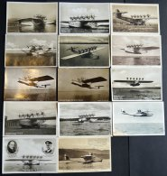 DO-X LUFTPOST 1930-34, 14 Verschiedene Ansichtskarten Mit DOX-Motiven, Meist Ungebraucht, Prachtlot