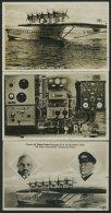 DO-X LUFTPOST 1932/3, 4 Verschiedene Ungebrauchte DOX-Fotokarten Mit Verschiedenen Erinnerungsstempeln, Pracht