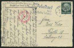 DO-X LUFTPOST 05.05.1933, Roter Stempel Flugschiff DO X Europaflug Auf Fotokarte Mit 6 Pf. Hindenburg Von MÜNCHEN N