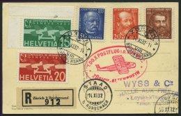 DO-X LUFTPOST 67.CH.a.I. BRIEF, 14.11.1932, Aufgabe Zürich Zum DO X Postflug In Die Schweiz Nach Altenrhein, Ankunf