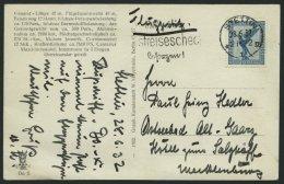 DO-X LUFTPOST 66.a. BRIEF, 28.06.1932, Deutschlandrundfahrt Der DO X, Etappe Nach Stettin, Fotokarte Eigenhändig Vo