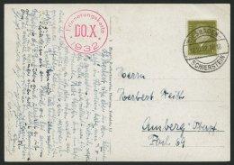 DO-X LUFTPOST 66. BRIEF, 17.10.1932, Deutschlandrundflug, DO X-Fotokarte Mit Rotem K1 Erinnerungskarte DO.X 1932, Pracht