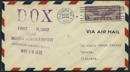 DO-X LUFTPOST 60.USA BRIEF, 19.05.1932, Erinnerungsbeleg Aus New York Zum DO X Abflug, Prachtbrief