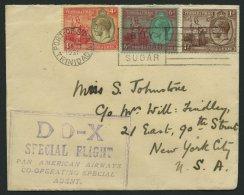 DO-X LUFTPOST 51.TR.e BRIEF, 19.08.1931, Aufgabe Port Of Spain/Trinidad, Nach Nordamerika, Prachtbrief