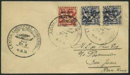 DO-X LUFTPOST 50.SR.d. BRIEF, 10.08.1931, Aufgabe Surinam Mit Sondermarken, Nach San Juan/Puerto Rico, Prachtbrief