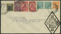 DO-X LUFTPOST 45.BR.c. BRIEF, 04.08.1931, Brasilien, Aufgabe Rio De Janreio, Schwarzer Rautenstempel, Nach Nordamerika,
