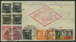 DO-X LUFTPOST 44.BR BRIEF, 01.08.1931, Aufgabe Sao Paulo, Roter Rautenstempel, Prachtbrief