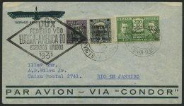DO-X LUFTPOST 36.a.BR BRIEF, 19.06.1931, Brasilien, Aufgabe Victoria, Schwarzer Rautenstempel, Prachtbrief