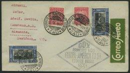 DO-X LUFTPOST 33.b.COL BRIEF, 17.06.1931, Zulieferpost Columbien über Rio Nach Europa Mit Brasilianischem Rautenste