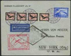 DO-X LUFTPOST DO 8 BRIEF, 3.5.1931, Deutsche Bordpostaufgabe Zum Flug Vila Cisneros-Südamerikafahrt Und Nach Nordam