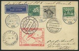 DO-X LUFTPOST 14.NL.b. BRIEF, 13.11.1930, Durchgangsstempel Friedrichshafen, Bordpoststempel 30.JAN.31, Zulieferpost Aus