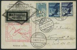 DO-X LUFTPOST 10.AU.c. BRIEF, 13.11.1930, Durchgangsstempel Friedrichshafen, Bordpoststempel 30.JAN.31, Zulieferpost &Ou