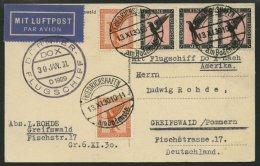 DO-X LUFTPOST 7.c.d. BRIEF, 13.11.1930, Aufgabe Friedrichshafen, Via Rio Nach Europa, Mit Durchgangsstempel 22.IV.31, Fr