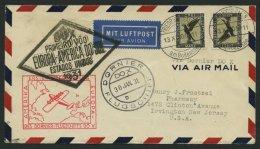 DO-X LUFTPOST 7.b. BRIEF, 13.11.1930, Aufgabe Friedrichshafen, Via Rio Nach Nordamerika, Mit Seltener Mehrfachfrankatur