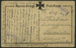 SCHLESWIG-HOLSTEIN ITZEHOE, 26.10.25, Violetter L1 Auf Marine-Kriegs-Postkarte, Feinst, R!