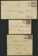 SCHLESWIG-HOLSTEIN DR 19,41,47 BRIEF, BLANKENMOOR Bei Heide, R3 Auf 4 Briefen (1874-1891), Pracht