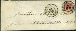 SCHLESWIG-HOLSTEIN 8 BRIEF, 1867, 1/2 S. Rosalila, Einzelfrankatur Auf Kleinem Ortsbrief Mit K2 ALTONA, Feinst