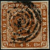 SCHLESWIG-HOLSTEIN DK 4 O, 5 Ringe Kleiner Punkt (HADERSLEBEN) Auf 4 S. Punktiert, Pracht, R!