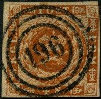SCHLESWIG-HOLSTEIN DK 7 O, 196 (BAHNHOF KLOSTERBURG) Zentrisch Auf 4 S. Liniert, Obere Rechte Ecke Berührt Sonst Pr