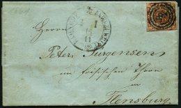 SCHLESWIG-HOLSTEIN DK 7 BRIEF, 168 (BAHNHOF EXPED. Zu WRIST) Auf 4 S. Liniert, Kleiner Prachtbrief Von Bilsener Brü