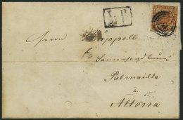 SCHLESWIG-HOLSTEIN DK 7 BRIEF, 157, L.P. No. 4 (KALTENKIRCHEN) Auf 4 S. Liniert, Brief Feinst (leicht Fleckig, Stempel U