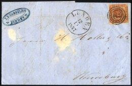 SCHLESWIG-HOLSTEIN DK 4 BRIEF, 143 (LUNDEN) Auf 4 S. Punktiert Nach Rendsburg, Brief Feinst (waagerechter Registraturbug