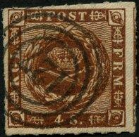 SCHLESWIG-HOLSTEIN DK 7 O, 127 (OLDENBURG) Auf 4 S. Liniert Mit Privatem Durchstich, Pracht, R!