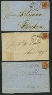 SCHLESWIG-HOLSTEIN DK 4,7 BRIEF, 117 (HEIDE) Auf 4 S. Punktiert Und Liniert, 7 Briefe Nach Verschiedenen Orten, Untersch
