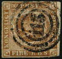 SCHLESWIG-HOLSTEIN DK 1IIb O, 115 (EUTIN) Auf 4 RBS Gelblichbraun, Feinst