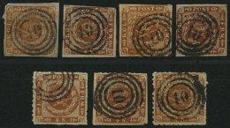 SCHLESWIG-HOLSTEIN DK 4,7,9 O, BrfStk, 10 (BURG) Auf 4 S. Punktiert (1x), 4 S. Liniert (3x) Und 4 S. Durchstochen (3x),