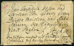 SCHLESWIG-HOLSTEIN - ALTBRIEFE 1711, Cito-Briefhülle Aus Itzehoe An Die Herren Bürgermeister Und Ratsmänn