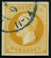 HANNOVER 16a O, 1859, 3 Gr. Gelborange, Pracht, Mi. 85.-