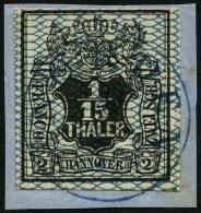 HANNOVER 11 BrfStk, 1856, 1/15 Th. Schwarz/grauultramarin NORDEN, Prachtbriefstück, Mi. (100.-)