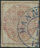 HANNOVER 8b O, 1856, 3 Pf. Karmin, Grau Genetzt, Rechts Etwas Schmal, Sonst Voll-breitrandig, Pracht, Gepr. W. Engel, Mi