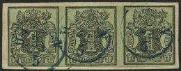 HANNOVER 2aV BrfStk, 1851, 1 Ggr. Schwarz Auf Graugrün Mit Plattenfehler Löwenrücken Links Neben Wappenov