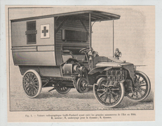 Voiture Radiographique Gaiffe Panhard Manoeuvres Est Poyet 1904 Ambulance - Radios