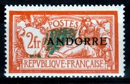 "Andorra (French Adm.), 2f. ""Merson"", 1931, MH VF"