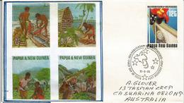 Independance De Papouasie,Drapeau, Belle Lettre Adressée En Australie