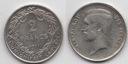 + BELGIQUE + 2 FRANCS 1911 + - 1909-1934: Albert I