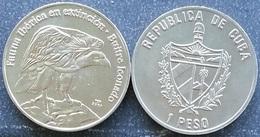 Cuba 1 Peso 2007 Buitre Leonado Endangered Species Iberic Animals UNC - Cuba