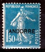 "Andorra (French Adm.), 1f50. Sower ""Semeuse"", 1931, MH VF"