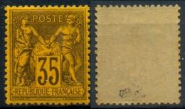 France N° 93a Neuf ** (MNH) Centra.Parfait - Signé Calves  Cote + 1700 Euros LUXE - 1876-1878 Sage (Type I)
