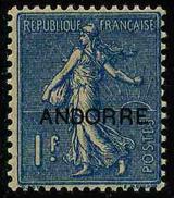 ANDORRE FRANCAIS - YT 18 * - TIMBRE NEUF *