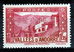 Andorra (French Adm.), Our Lady Of Meritxell, 1f25, 1932, MH VF