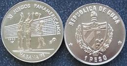 Cuba 1 Peso 1990 XI Panamerican Games 91 1991 Volleyball UNC - Cuba