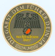 Orginal WHW / Winterhilfswerk -Türplakette ,1934,> # *Du Gabst Dem F. Dein Ja* #, 3.Reich, (Dm.: 10cm) - Dokumente
