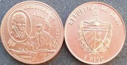 Cuba 1 Peso 1989 Alejandro Humboldt 1769 Eagle Copper UNC - Cuba
