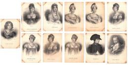 Lot De 11 CPA : Personnages Historiques Thème Napoléon - Joséphine, Caroline Murat, Le Roi De Rome Etc. - Voir SCANS - Historical Famous People